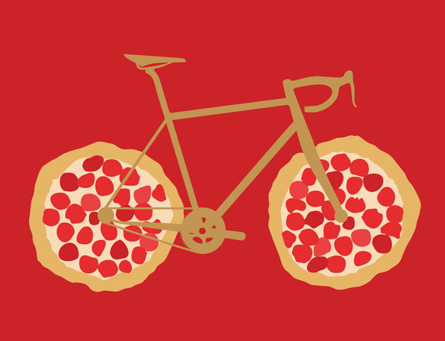 Bicycle Pizza Wheels
